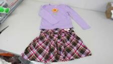 Gymboree Sunflower Smiles 2pc Purple Shirt w/ Plaid Skirt Size 6 NEW/EUC  TL29