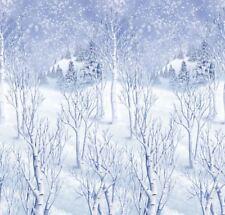 Winter Wonderland Snowy Forest Scene Setter Christmas Party Decoration 4 Rolls