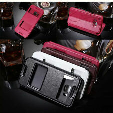 Synthetic Leather Mobile Phone Cases, Covers & Skins for HTC with Kickstand