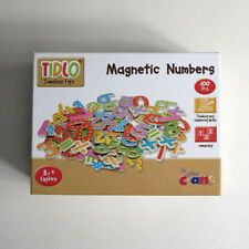 Tidlo 100 piece wooden magnetic numbers and symbols educational set. Age 3+