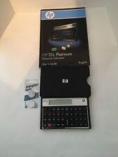 HP 12C Platinum Financial Calculator with Case