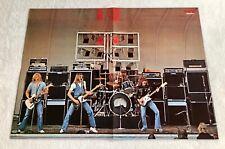 STATUS QUO 1975 Live - Swedish Poster Magazine 1970s Mega Rare Vintage