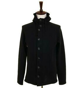 Yohji Yamamoto Y's men's label black hooded zip cardigan (001-403)