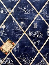 SALE Harry Potter Fantastic Beasts Crafted Fabric Notice Pin Memo Board 40x30cm