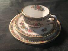 Coalport Bone China Ming Rose Miniature Trio Set, Tea Cup, Saucer & Plate
