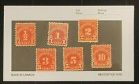 U.S. Postage Due stamps scott j79 - j84 issues of 1931 MNH OG
