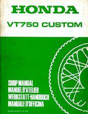 Honda VT750 Custom 1987 Shop Manual