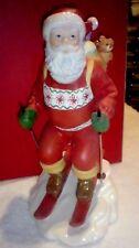 "Lenox ""Santa's Downhill Dash"" Mib 8 inch figurine Limited Edition Beautiful"