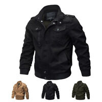 New Mens MA-1 Pilot Bomber Jacket Coats Air Force One Military Army Jackets Yooo
