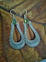 Peridot Earrings 925 Sterling Silver Party Earring Long Earrings Dangle Earrings
