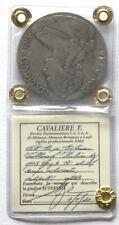 Vittorio Emanuele III - Col. Eritrea - Tallero Italicum 1918 argento Periziato