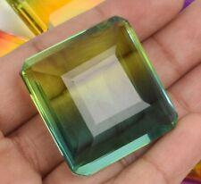 Square Single Pcs Multi Color Ametrine Translucent Gems 80-90 Ct. Approx Faceted