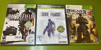 Xbox 360 Lot Of 3 Games: Gears Of War 3/ Lost Planet / Bad Company 2 Battlefield