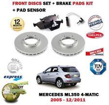 para Mercedes Ml350 4matic 2005-2011 Discos freno Delantero Set + pastillas kit