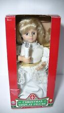 """Animated Christmas Angel Display Figure 11"""" Multi Function Battery Operated"""