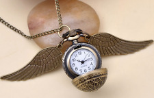 Harry Potter Snitch Watch Necklace Pendant Quidditch Pocket Watch Clock