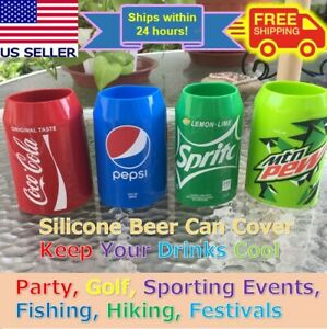 Beer Can Covers, Silicone Sleeve Hide a Beer Coca-Cola,Pepsi,Sprite,Mtn Dew 12oz