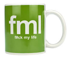 TEXT SPEAK MUGS FML - MUG (11OZ) (BRAND NEW IN BOX)