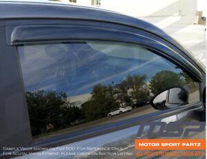 JDM Vent Visors 4pcs Volkswagen Touareg 04 05 06 07 4-Door TDI V6 Sport Utility