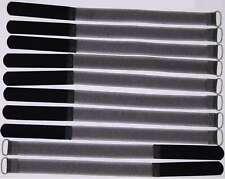 10 x Klettband Kabelbinder SO mit Öse 30 cm x 20 mm schwarz Kabelklettband Klett