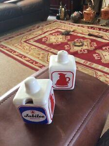 Vintage Jubilee Stout Salt & Mustard Pot Wade 1960's