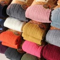 Women Pantyhose Knitted Cotton Thick Winter Lady Skinny Twist Fashion Winter