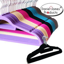Coat Clothes Hangers Non Slip Velvet Flocked Curved Trousers Dresses Slim Velour