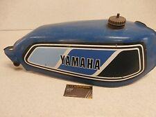 77 Yamaha DT 250 DT250 Enduro GENUINE Vintage Blue Fuel Petrol Gas Tank Cap OEM