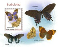 Sao Tome & Principe 2021 MNH Butterflies Stamps Cattleheart Butterfly 1v S/S