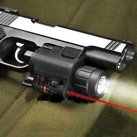Red Laser Sight + CREE Q5 LED Flashlight Combo for 20mm Picatinny Rail
