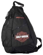 Harley-Davidson® Bar & Shield® Sling Backpack | Orange & Black BP1957S-ORGBLK