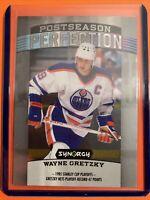 2018-19 UD Synergy Postseason Perfection #PS-1 Wayne Gretzky Edmonton Oilers