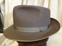 Vintage 60s Champ Featherweight Kasmir Finish Light Purple Mens Fedora Hat Sz 7