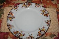 """Royal Albert """"Lenora"""" 10 1/2"""" Dinner Plate Orange, Yellow Roses, New, #1 Quality"""