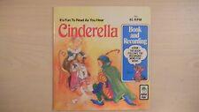 CINDERELLA Peter Pan Book & Record 45rpm 1981