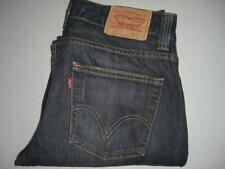 Mens LEVI'S 506 STANDARD Dark Blue Denim Jeans W32 L32 Straight Leg