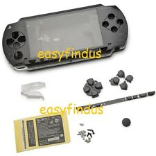 For PSP 1000 Full Housing Shell faceplate Case frame button replacement black