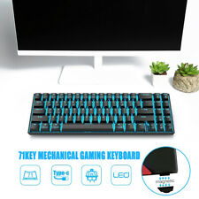 71 Keys Mechanical Gaming Keyboard bluetooth3.0 LED Backlight Compact Red Switch