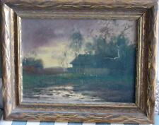 American Tonalist Oil-1890's-Approaching Storm-Signed-Powerful-Sleeper