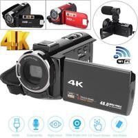 4K UHD WiFi 16X Zoom 48MP Digital Video Camera Camcorder DV for Shooting 2 Types