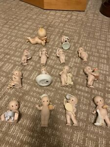 Lot of 14 Rose O'Neill Kewpie Piano Babies Vintage Signed On Heel Rare Old