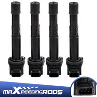 4x Ignition Coils for Honda Accord CRV Integra Odyssey K24A K20A 4Cyl 2.0L 2.4L