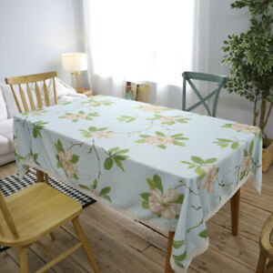 Lace Floral Print Tablecloth Rectangle Table Cloth Cover Kitchen Dining Decor