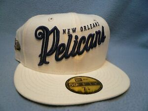 New Era 59fifty New Orleans Pelicans Jersey Script Sz 7 1/4 NEW Fitted cap hat