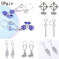 Crystal Non Pierced Clip On Fake Nipple Ring Drop Dangle Chain Body Jewelry