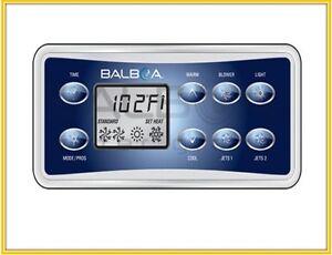 Balboa VL801D topside keypad Overlay,8 button display panel Fit GS523 VS GS500DZ
