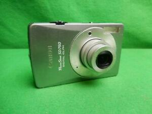 Canon PowerShot ELPH SD750 7.1MP Digital Camera - Silver w/ Battery and Charger