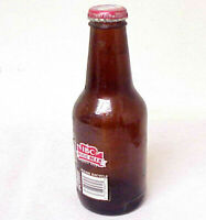 IBC ROOT BEER VINTAGE EMPTY MINIATURE GLASS BOTTLE WITH BOTTLE CAP SEAL CLOSED