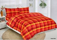 Cotton Quilt Duvet Cover Set, Bedding Set With Pillow Cases & Fitted Sheet