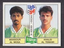 Panini-EE. UU. Copa Mundial 94-Nº 440 al Mosa/Temawi-Arabia Saudita (Negro atrás)